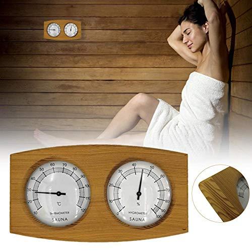 bulrusely Igrometri Termometri per Saune Timer di Legno 26 CM X 14,5 CM X 4,5 CM Accessori Sauna di Alta qualità Helpful Outgoing