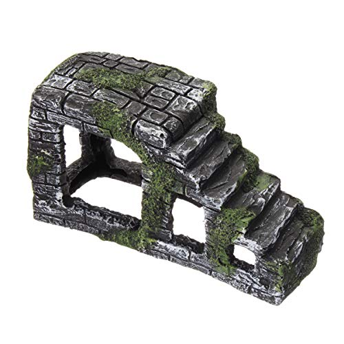 TuToy 20Cm Reptiel Turtle Basking Kikker Drijvende Platform Ladder Cave Rock Aquarium Decoraties