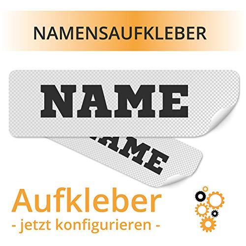 Namensaufkleber Name als Aufkleber Namensbeschriftung Name Sticker Aufklebe mit Namen Wunschtext