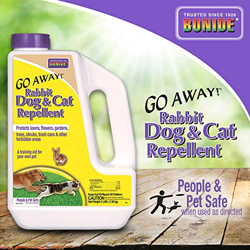 Bonide (BND871) - Go Away! Rabbit, Dog & Cat Repellent, Outdoor Animal Repellent Granules (3 lb.)