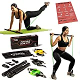 Royal Tiger Fitness Portable Home Gym - All-in-One Resistance Band + Pilates Bar Kit - Total Body...