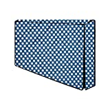 Aavya Unique Fashion 42 Inch Transparent LCD/LED TV Monitor Cover for 2 Layer dust Proof & Water Proof Smart LED/LCD TV Monitor Cover,22, Blue::White