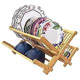 Totally Bamboo Collapsible Dish Drying Rack, Natural Bamboo