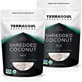 Terrasoul Superfoods Shredded Coconut Flakes, 2 Pounds (16oz - 2 Pack) 100% Certified Organic, Non-GMO, Raw, Gluten-Free, Vegan Our medium shredded coconut is unsweetened, gently dried, and never treated with sulfites. Terrasoul Superfoods is a small...