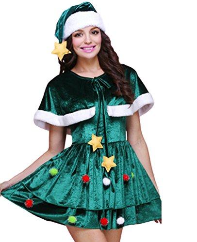 Anguang Mujer Multi Estilos Navidad Árbol Disfraz Cosplay Lujoso Vestir Mini Vestir Estilo 1