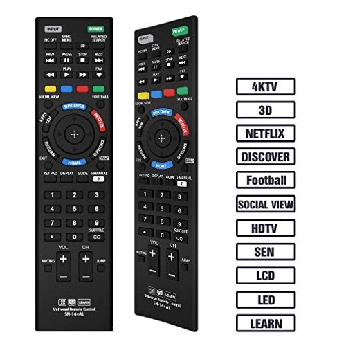 Gmatrix Sony-Mando a Distancia Universal para Sony Bravia TV Sony LCD/LED/Smart TV