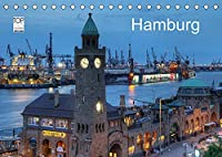 Hamburg (Tischkalender 2022 DIN A5 quer): Eine fotografische Reise durch das abendliche Hamburg (Monatskalender, 14 Seiten )