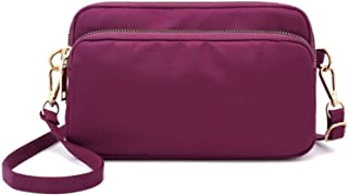 Travel Essential, Stylish and Durable Large Capacity Casual Canvas Diagonal Cross Bag (Color : Purple, Size : 22x7x14cm)