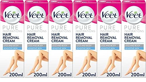 Veet Cream Hair Removal Sensitive Skin 200ml Case of 6