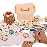 MAICOLA Plantilla de Dibujo de los niños Dibujo Arte de la Plantilla Set niños de Madera Pintada para Colorear Pintura Plantilla Cabritos de los Sistemas de Bricolaje Juguetes