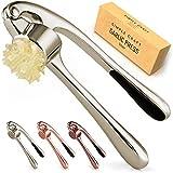 Simple Craft Garlic Press - Rustproof & Ergonomic Garlic Mincer That Is Easy To Squeeze - Heavy Duty...