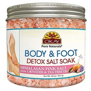 Okay Himalayan Pink Salt Foot Soak With & Tea Tree Oil lavender 20 Ounce