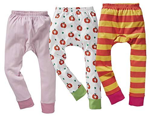 Bio Kinder Unterhose lang 100% Bio-Baumwolle (kbA) GOTS zertifiziert, Mädchen 3er-Set, 122/128