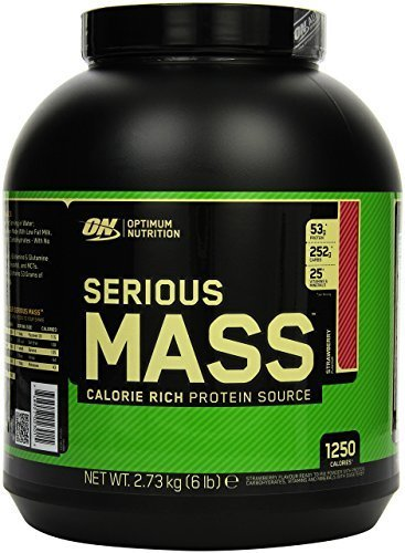 Optimum Nutrition Serious Mass 2.72 kg Strawberry Weight Gain Powder by OPTIG