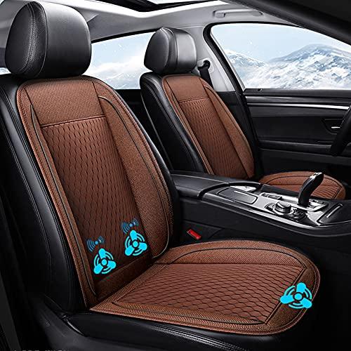 LUKUCEA 1 Pieza Coche Asiento Funda 12V para Verano Protector Asiento Coche con Sistema de Aire Acondicionado Airbag Compatible por Carro Camión SUV
