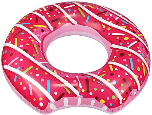 com-four® Aufblasbarer Schwimmreifen im angesagten Donut Design - Schwimmring für Kinder und Erwachsene [Auswahl variiert]