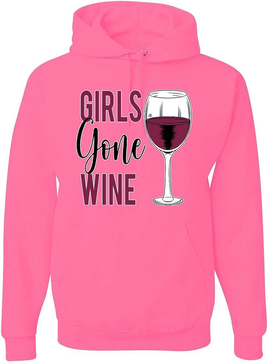 セール特価 Funny Girls Gone Wine 期間限定送料無料 Women Drinking Novelty Alcohol Grap Unisex