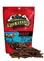 Perfect size for high value reward training. Just see what they can learn to do! Real USA Beef is the #1 Ingredient for a taste and smell that dogs love Made in the USA Soft Jerky - Great taste…Great texture…Fantastic aroma NO Grains, Wheat, Corn, So...
