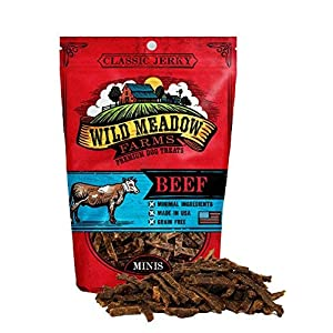 Wild Meadow Farms – Classic Beef Minis – USA Made Soft Jerky Training Treats for Dogs