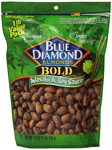 Blue Diamond Almonds Bold Wasabi amp Soy Sauce Value Pack 16Ounce Pack of 3