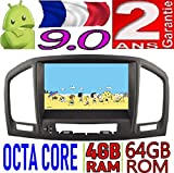 KasAndroid AUTORADIO Android 9.0 Compatible avec Opel Insignia Octa Core, 4 B RAM, 64 GB ROM GPS Radio Voiture WiFi 4g CD SD DVD navigateur USB Bluetooth Mirror Link CANBUS 2008 2009 2010 2011