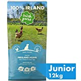 Irish Pure Junior Freiland-Huhn mit Kelp-Alge & Gemüse - Welpen Trockenfutter für wachsende Hunde, Hoher Fleischanteil, Getreidefrei, Sensitiv, Puppy, Hundetrockenfutter, Hundefutter (12kg)