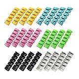 YFaith 24 Piezas Cable Protector, Protector de Cable USB, Protección USB de Silicona Flexible, Para MóVil, Auricular, Cable de Datos, 6 Colores ( Negro, Gris, Azul, Verde, Amarillo, Rosa )