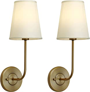 Details about  /Contemporary Wall Sconce 2 Shades Fabric Wall Mount Lighting with Braided Trim