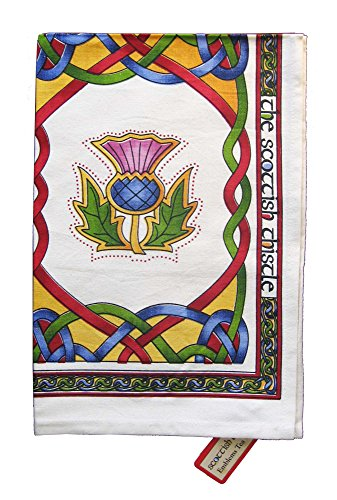 Royal Tara Irish Tea Towel with Celtic Knots Design -100% Cotton (Scottish Emblems)