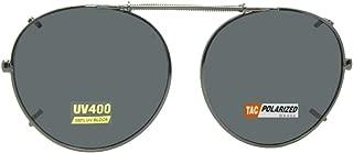 Semi Round Polarized Clip on Sunglasses