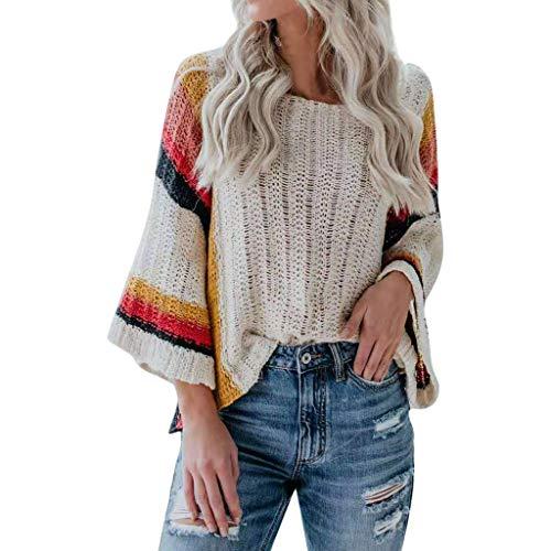 Longra sweatshirt voor dames, contrasterende kleuren, geweven, casual, losse stijl, overhemd, lange mouwen, eenkleurig, casual pullover, losse jumper tops sweatshirt