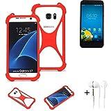 K-S-Trade® Mobile Phone Bumper + Earphones For Vestel 5000