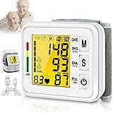 HetCae Blood Pressure Monitor,Digital BP Cuff Wrist Blood Pressure Cuff Monitor Automatic Large Backlight Rechargeable Wrist Blood Pressure Monitor Pulse Rate Monitoring Meter BP Machine for Home Use