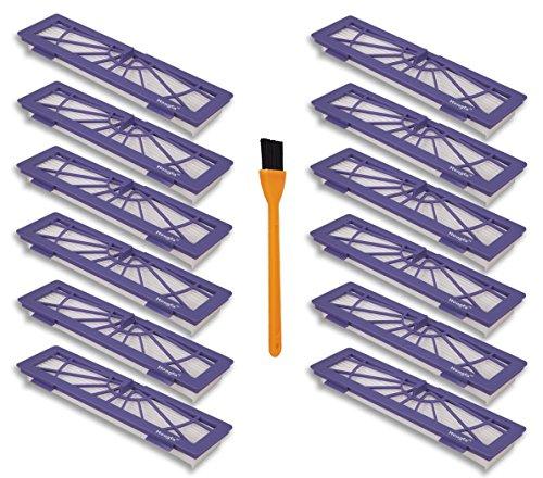 Honfa 12 pcs haute performance Neato filtre de remplacement pour Neato Botvac Série 945-0123 Botvac D701 70 70e 80 85 D7 D5 D3 Série pièces