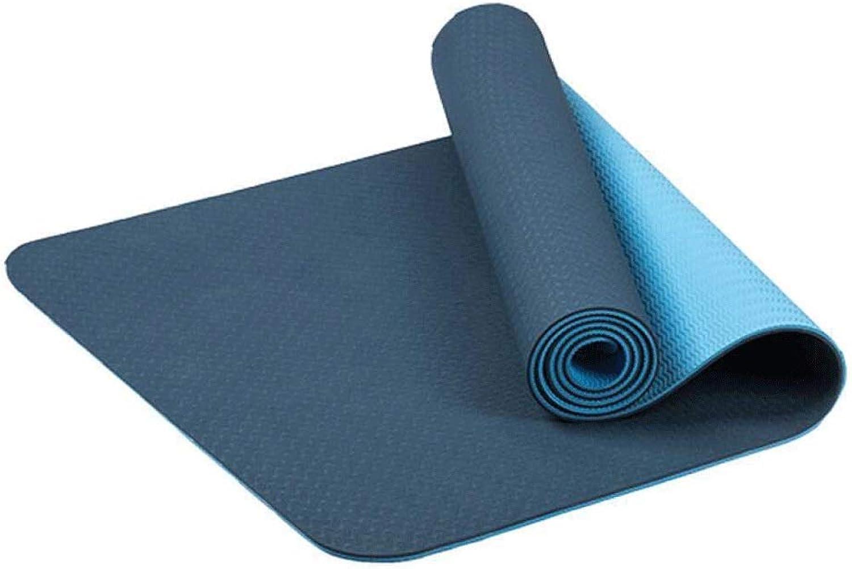 WZHYOGAMAT Outdoor-Sportarten TPE Rutschfeste Yoga-Matte Zusammenklappbare Tragbare Fitness Yoga-Matte Multi-Farbe Optional 183  60  0,6 cm (Farbe   D)