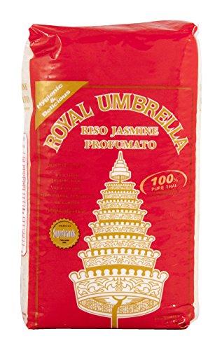 Royal Umbrella Riso Thai Hom Mali, Jasmine - 1000 gr - [confezione da 5]
