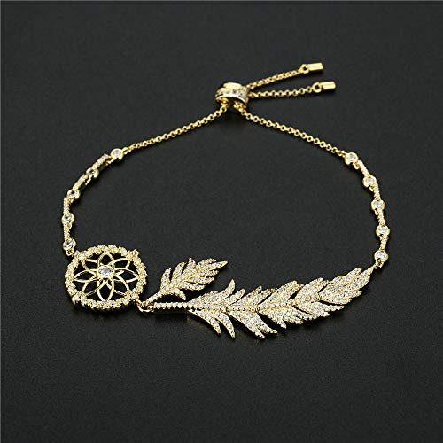 Sanfeng Auspicious Pin Feather Dream Catcher Pulsera Pulsera