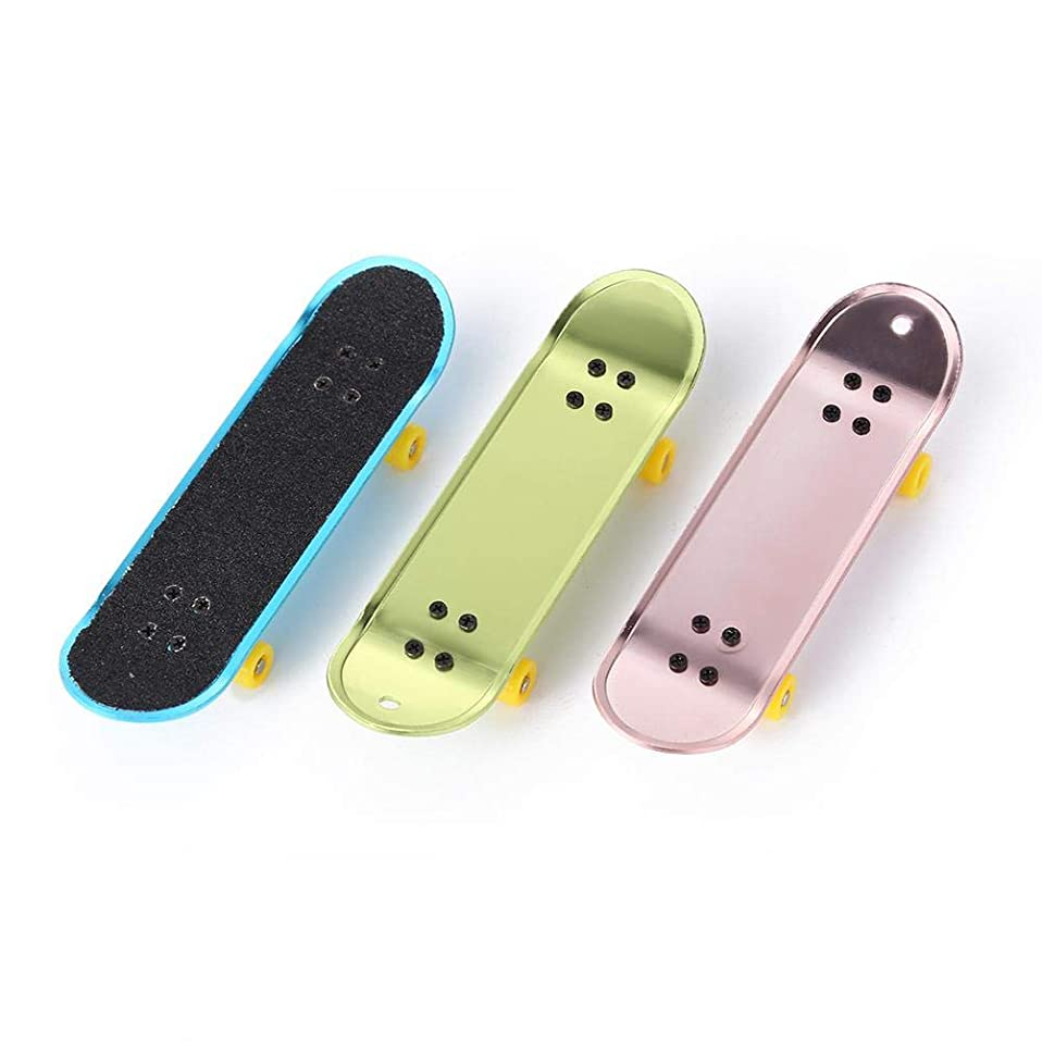 めったに前提ピンカーテン合金指スケートボード+アクセサリー+スペアホイール子供用教育玩具ランダムな色SNOWVIRTUOS