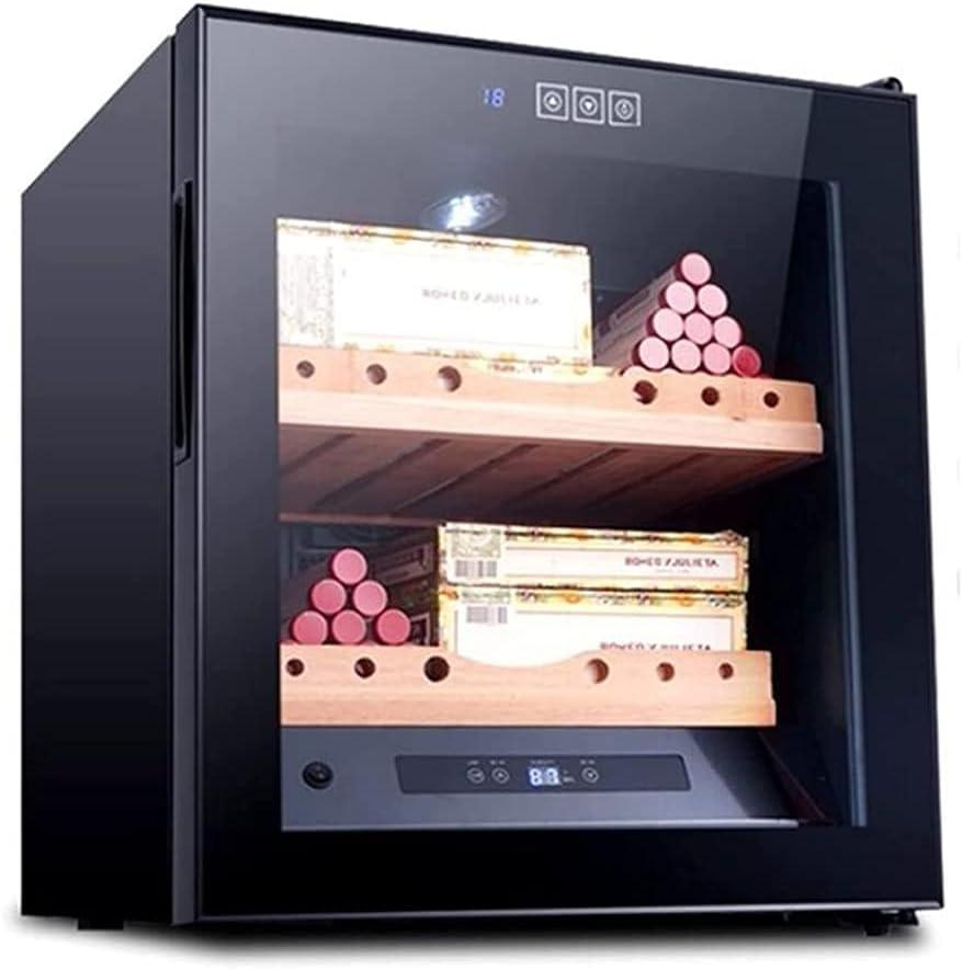 BOXIAO Gabinete del Cigarro, Temperatura Constante Y Humedad Doméstica Hidratante Electrónica Mini Control De Humedad Pequeño Refrigerador