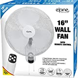 BARGAINSGALORE 16' WALL MOUNTED FAN WITH REMOTE 3 SPEED AIR COOL TIMER OSCILLATING MESH GRILL