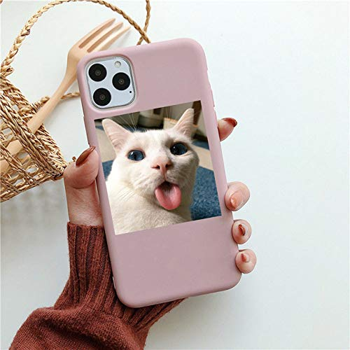 WGOUT Carcasa de teléfono de Dibujos Animados Gato Cerdo para iPhone 12 Pro MAX Mini Fundas para iPhone 11 XS XR 8 7 6S Plus SE 2020 Carcasa Trasera de TPU Suave, 02, para iPhone XR