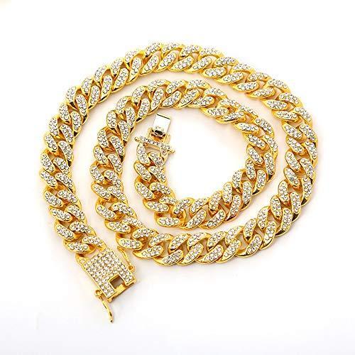 Kunze Collares de Cadena Cubana Resistente para Hombre Hip Hop Cool Style Solid Cóncavo 18,20,24,26,28