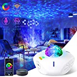 Star Projector Galaxy Projector Night Light with Bluetooth Music Speaker and Remote Control Smart APP Work with Alexa Google Home Galaxy 360 Pro Galaxy Light for Bedroom for Baby Kids Adult Gift