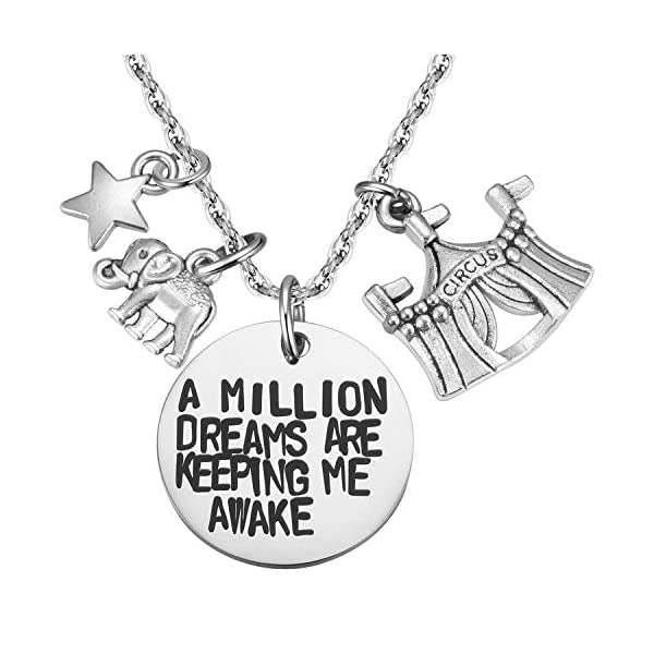 MIXJOY The Greatest Showman Inspired a Million Dreams are Keeping Me Awake Necklace 3