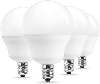 JandCase G14 E12 LED Bulb, 40W Equivalent(5W), Adjustable Color Temperature 2700K/4000K/6000K, 450LM, Soft/Daylight White Bulbs for Chandelier, Ceiling Fixture, Table Lamp, Candelabra Base, 4 Pack