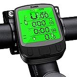 SPLAKS Cuentakilómetros para Bicicleta de múltiples Funciones, Impermeable,Pantalla retroiluminada, Gran LCD Pantalla,HD Pantalla Auto, Distancia Seguimiento.
