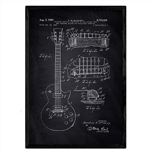 Nacnic Poster con Patente de Guitarra. Lámina con diseño d