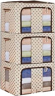 Lpiotyucwh Paniers et Boîtes De Rangement, 3 Morceaux de Structure en Acier de Tissu d'Oxford de ménage, Sac de Rangement ...