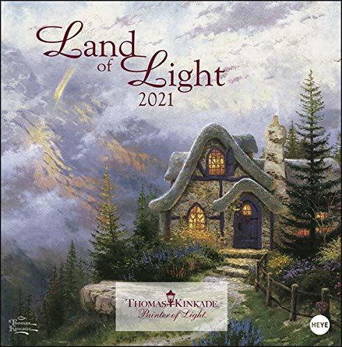 Thomas Kinkade: Land of Light Broschurkalender 2021 - mit Jahresübersicht 2022 - Wandkalender mit Monatskalendarium und Platz für Eintragungen - Format 29,5 x 30 cm (29,5 x 60 cm geöffnet)