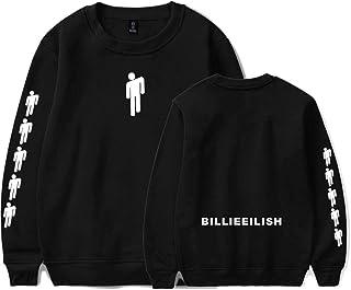 Flyself Men's Casual Sweatshirts Billie Eilish Hip Hop Pullover Sweatshirt Tops for Women Teen